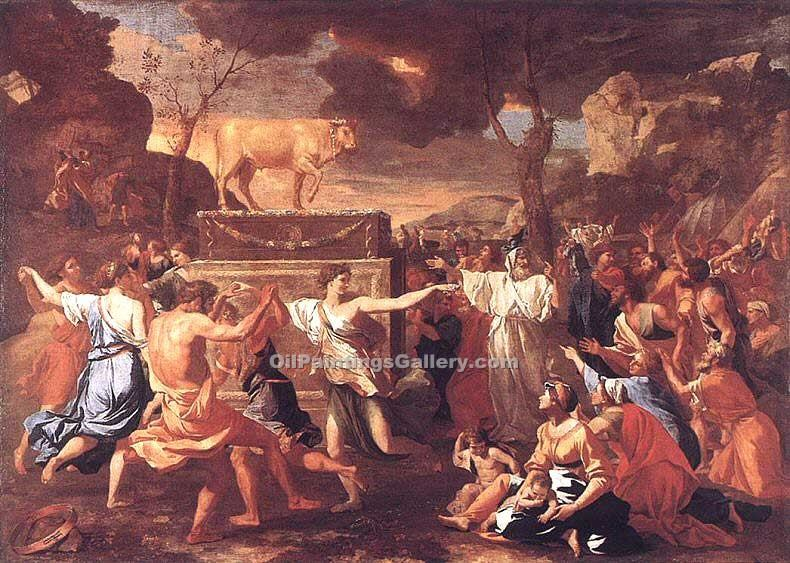 """Adoration of the Golden Calf"" by  Nicolas Poussin"