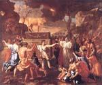 Adoration of the Golden Calf by  Nicolas Poussin (Painting ID: CM-1455-KA)