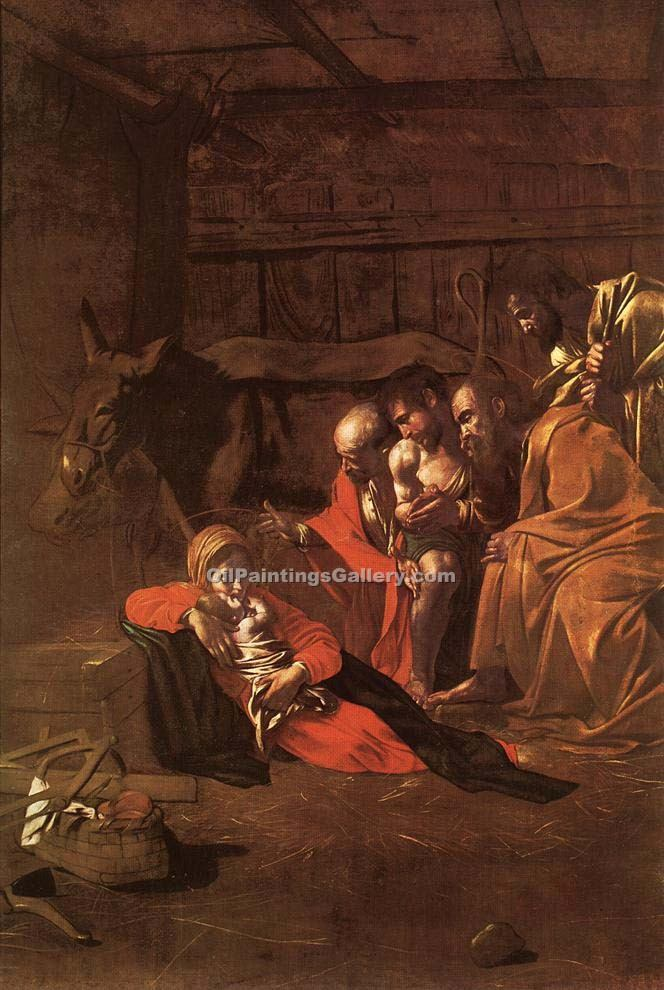 """Adoration of the Shepherds 34"" by    Caravaggio"