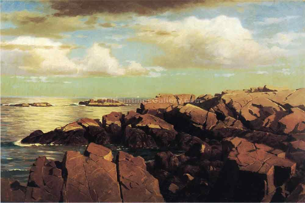 """After a Shower, Nahant, Massachusetts"" by  William Stanley Haseltine"