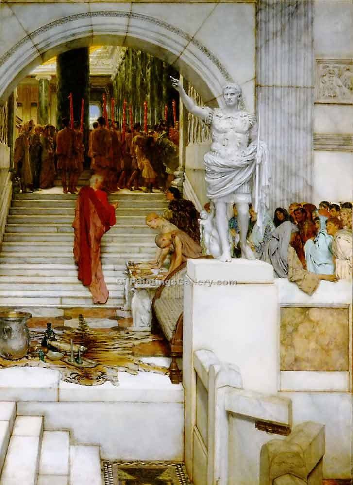 """After the Audience"" by  Sir Lawrence Alma Tadema"