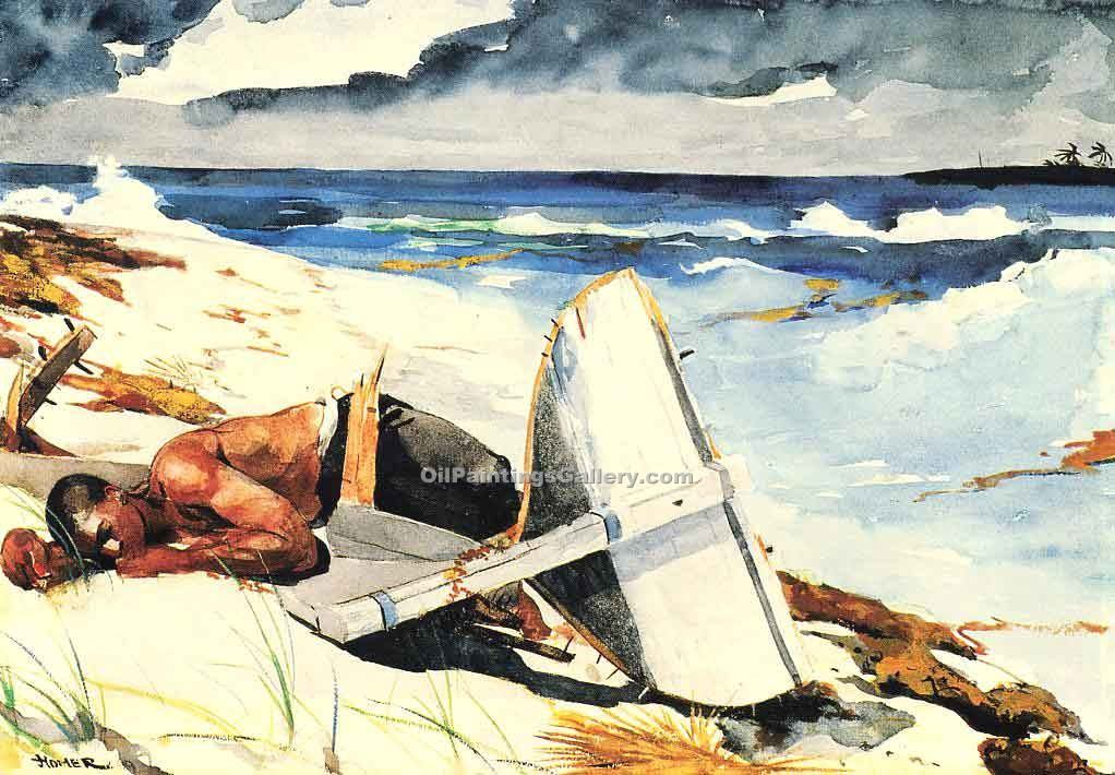 """After the Hurricane"" by  Winslow Homer"