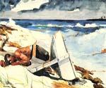 After the Hurricane by  Winslow Homer (Painting ID: LA-1854-KA)