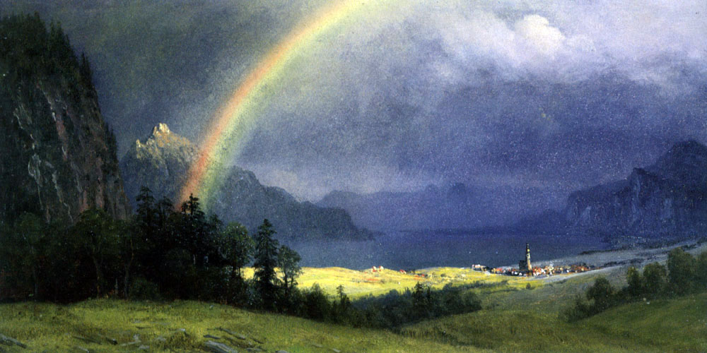 """After the Shower"" by  Albert Bierstadt"