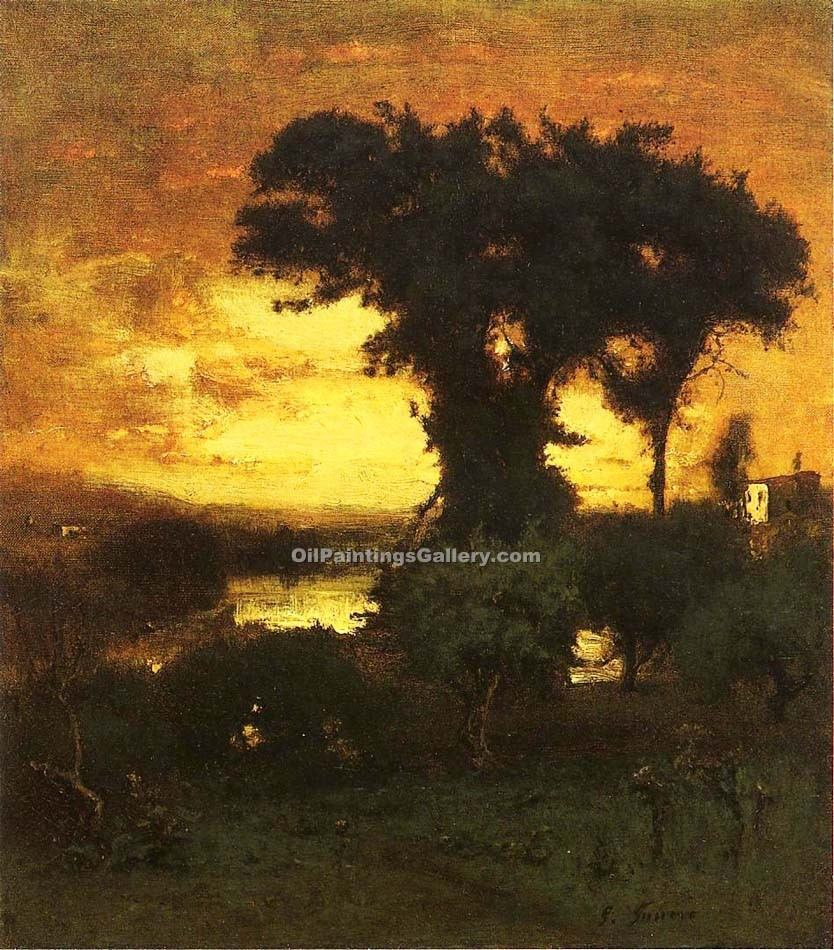 """Afterglow"" by  George Inness"