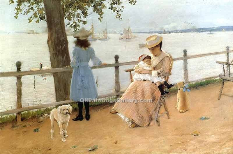 """Afternoon by the See"" by  William Merritt Chase"
