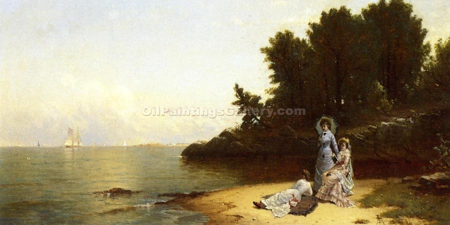 """Afternoon by the Shore"" by  Alfred Thompson Bricher"
