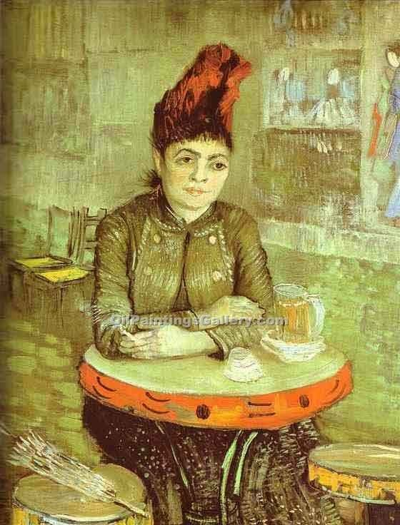 """Agostina Segatori in the Cafe de Tambourin"" by  Vincent Van Gogh"