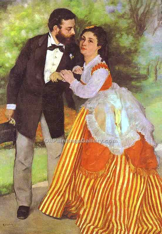 Alfred Sisley and His Wife by Pierre Auguste Renoir | Angel Paintings - Oil Paintings Gallery