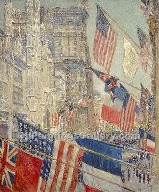 """Allies Day"" by  Frederick Childe Hassam"