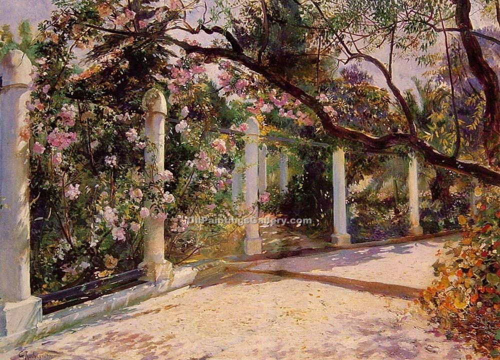 """Almond Trees Algiers"" by  Georges Antoine Rochegrosse"