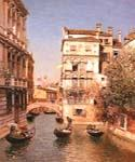 Along the Canal of Venice by  Martin Rico Ortega (Painting ID: CI-1735-KA)