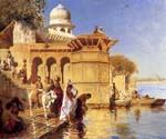 Along the Ghats Mathura by  Edwin Lord Weeks (Painting ID: GE-1252-KA)