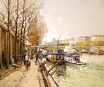 Along the Seine River 77  (Painting ID: CI-0777-KA)