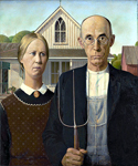 American Gothic by  America 1891 to 1942 Wood Grant (Painting ID: ED-1200-KA)