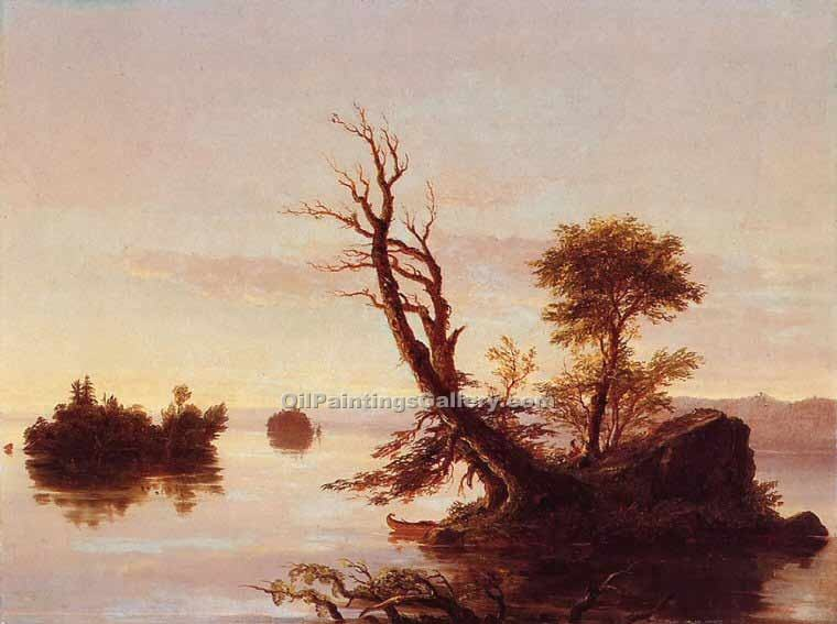 """American Lake Scene"" by  Thomas Cole"