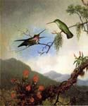 Amethyst Hummingbirds by  Martin Johnson Heade (Painting ID: AN-0840-KA)
