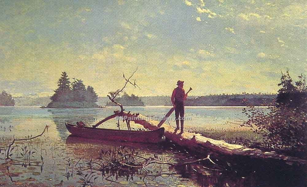 """An Adirondack Lake"" by  Winslow Homer"
