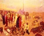 An Arabian Market by  Giulio Rosati (Painting ID: AN-3240-KA)