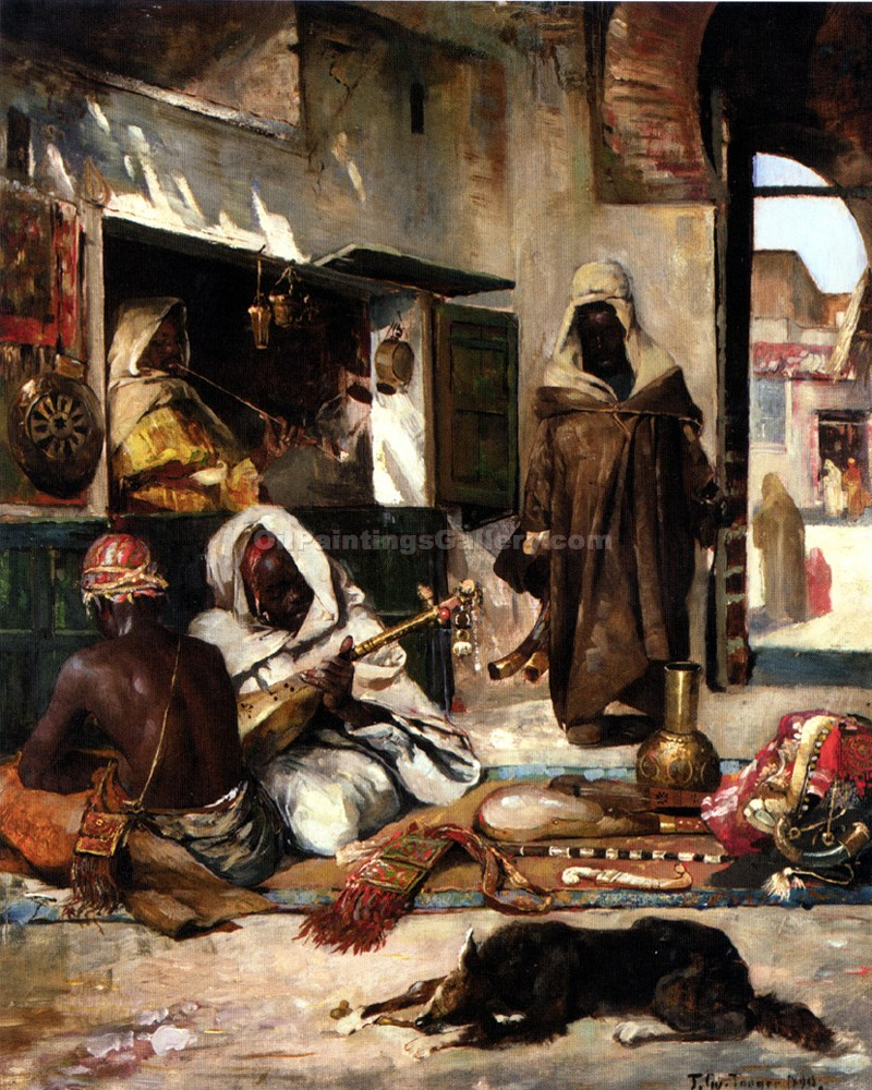 """An Arms Merchant in Tangiers"" by  Gyula Tornai"