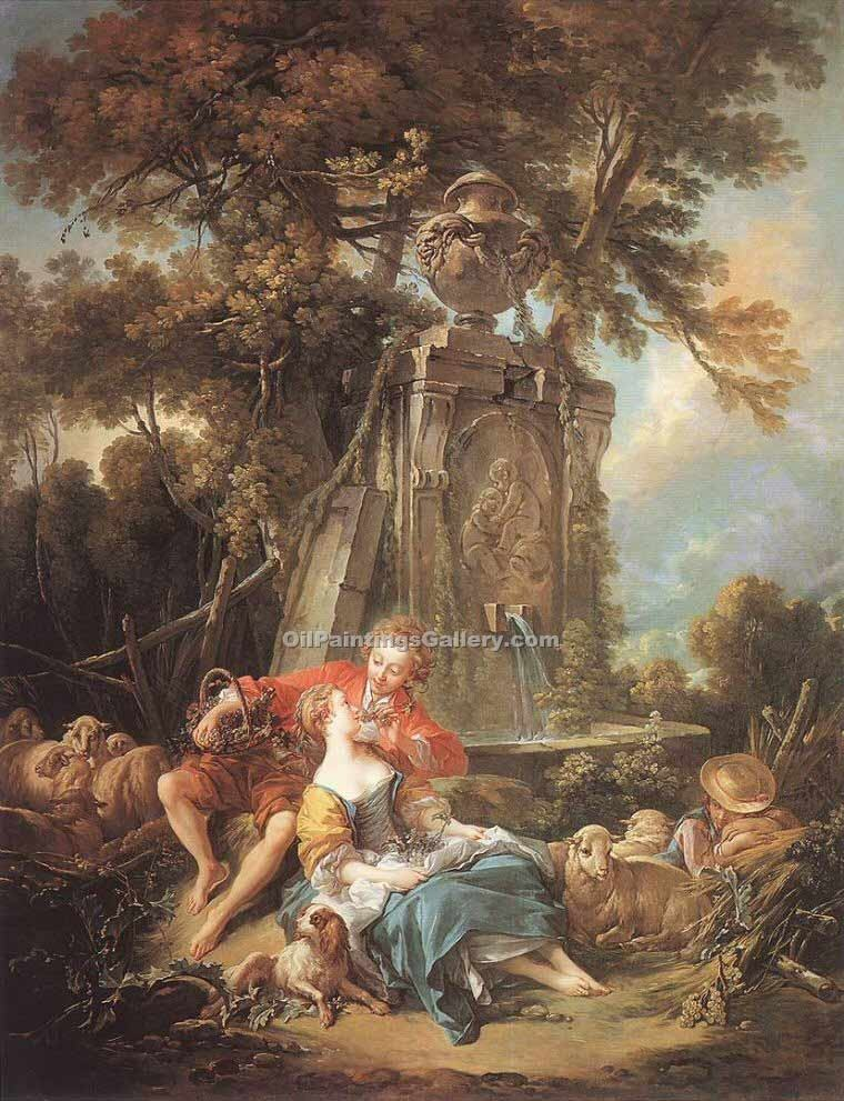 """An Autumn Pastoral"" by  Francois Boucher"