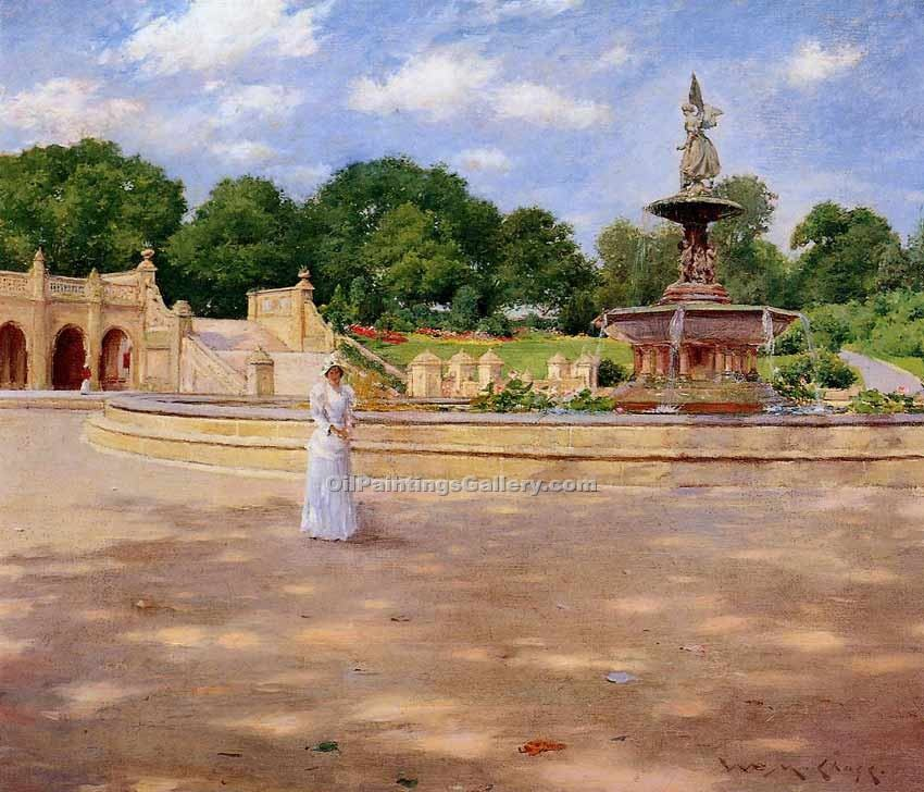 """An Early Stroll in the Park"" by  William Merritt Chase"