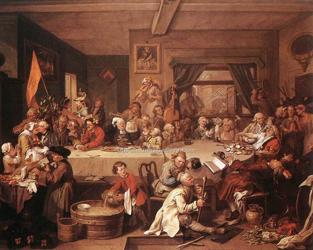 an election entertainment by william hogarth painting id
