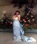 An Elegant Beauty by  Auguste Toulmouche (Painting ID: ED-0817-KA)