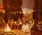 An Evening s Entertainment for Josephine by  Francois Flameng (Painting ID: CL-0796-KA)