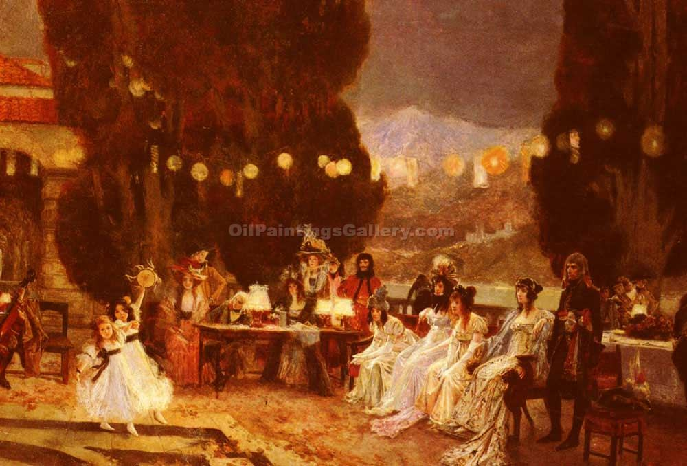 """An Evening s Entertainment for Josephine"" by  Francois Flameng"