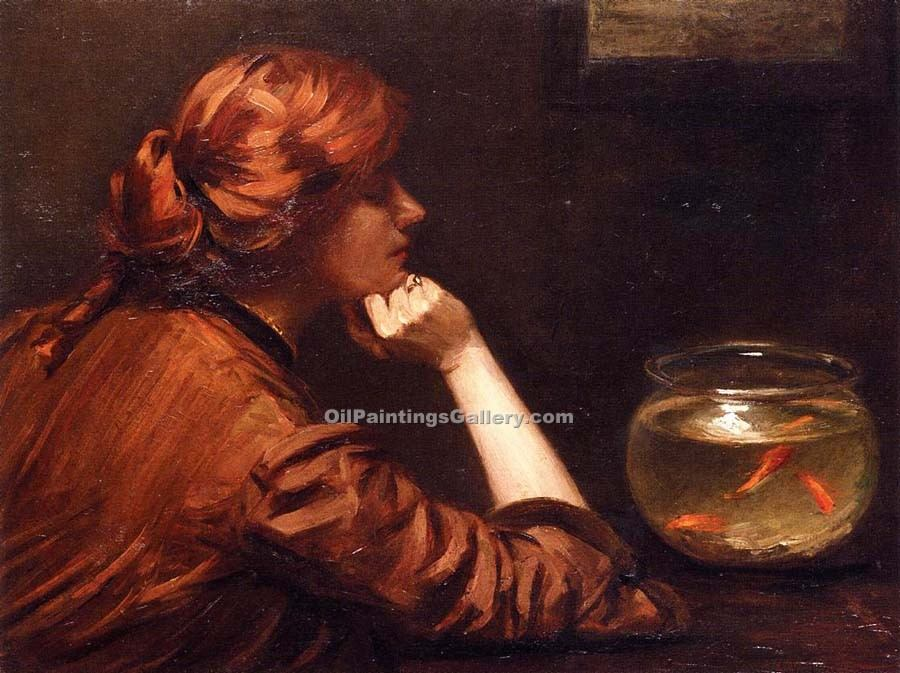 """An Idle Moment"" by  John White Alexander"