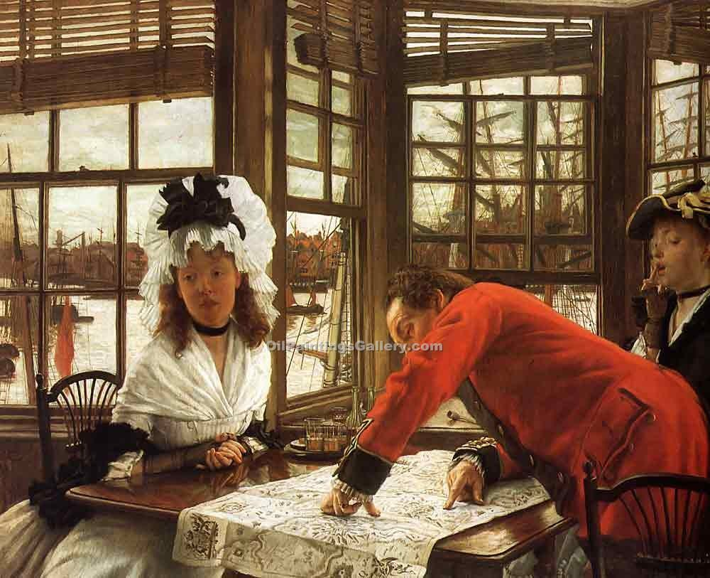 """An Interesting Story"" by  James Tissot"
