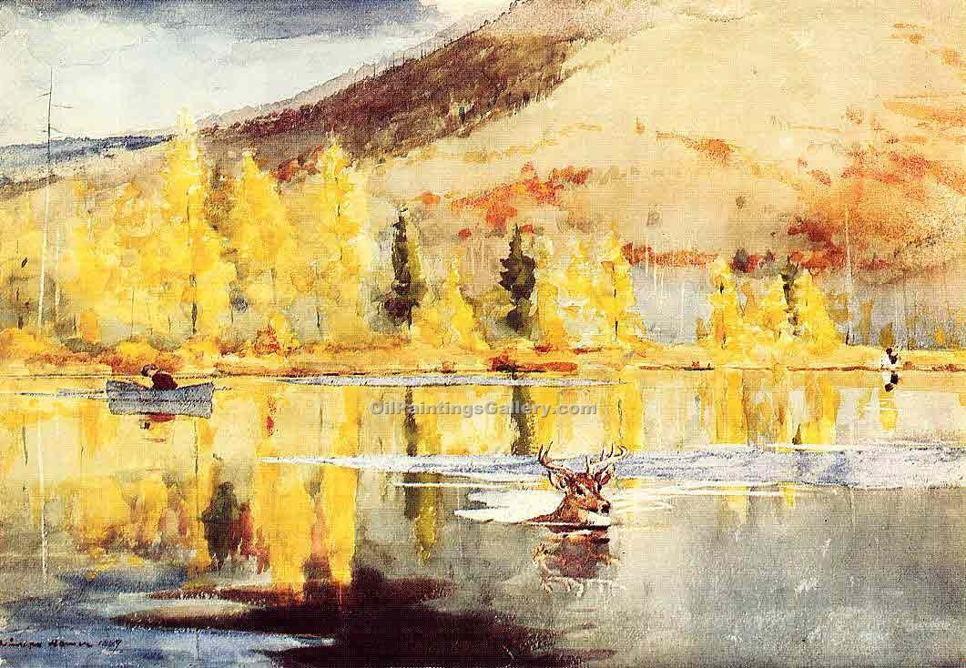 """An October Day"" by  Winslow Homer"