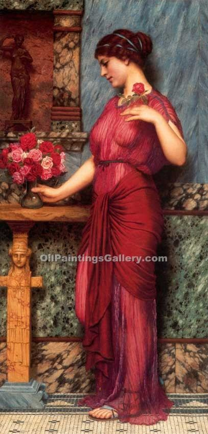 """An Offering to Venus"" by  John William Godward"
