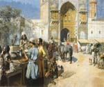 An Open Air Restaurant Lahore by  Edwin Lord Weeks (Painting ID: GE-1276-KA)