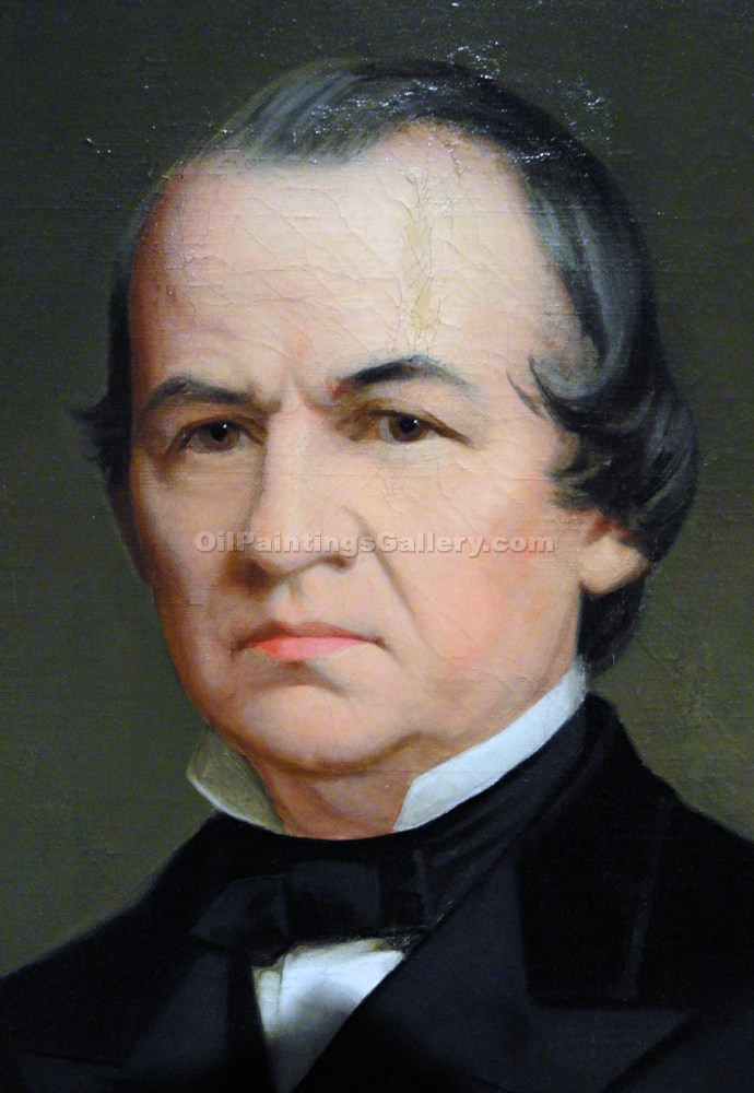 """Andrew Johnson, 17th President, Painted by Washington B. Cooper"""