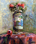 Anemones in a Chinese Vase by  Edouard Vuillard (Painting ID: SL-0395-KA)