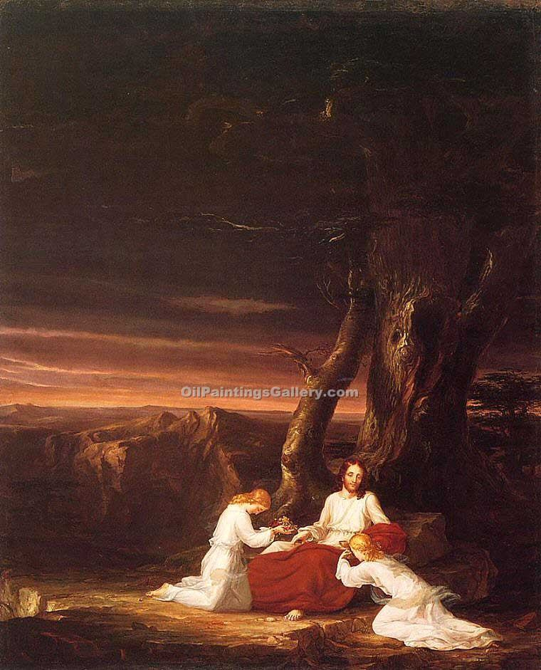 """Angels Ministering to Christ in the Wilderness"" by  Thomas Cole"