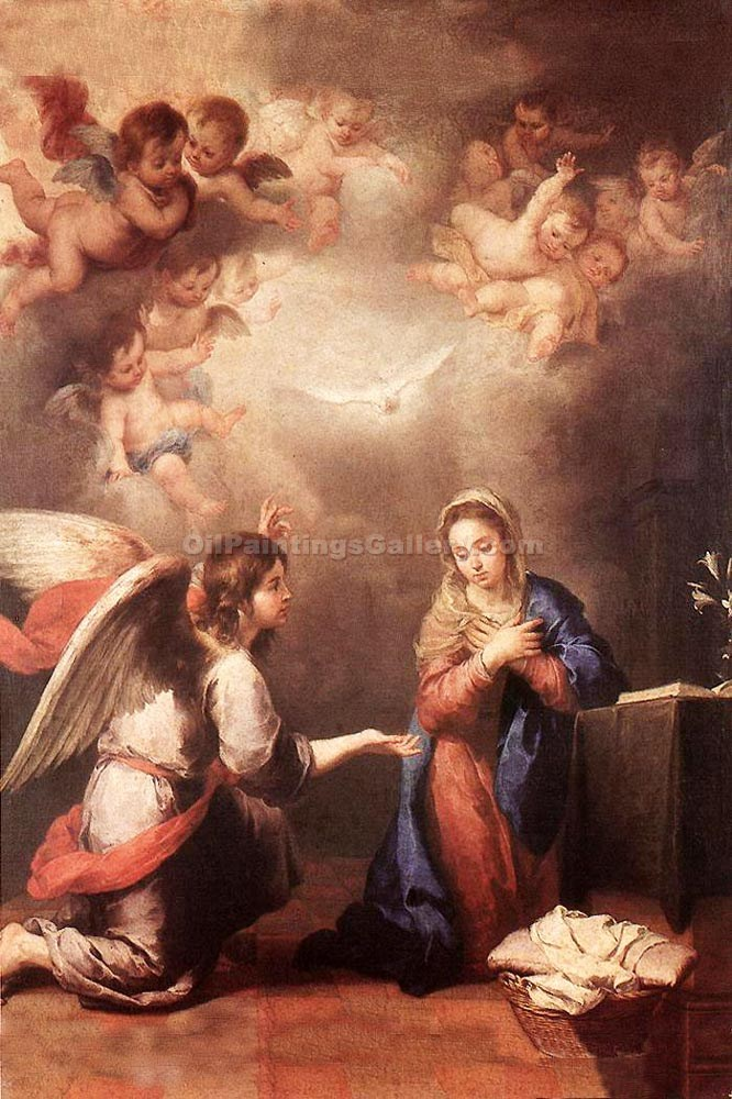 """Annunciation 01"" by  Bartolome Esteban Murillo"