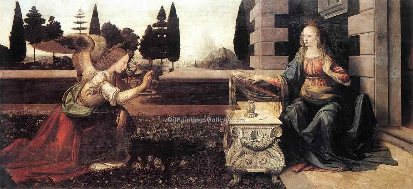"""Annunciation 09"" by  Leonardo Da Vinci"
