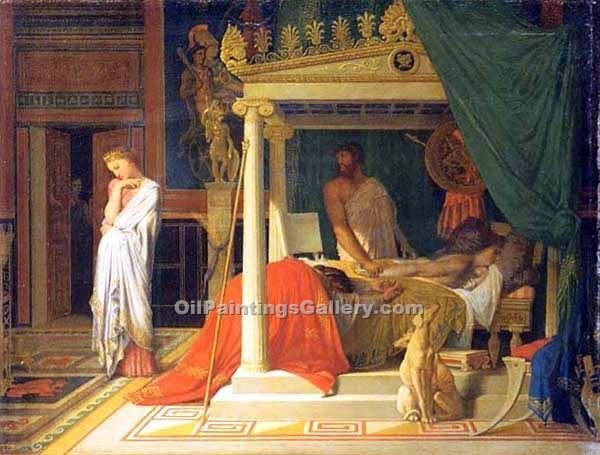 """Antiochus and Stratonice"" by  Jean Auguste Ingres"