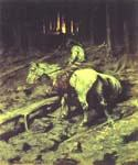Apache Fire Signal by  Frederic Remington (Painting ID: GE-2023-KA)