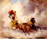 Apollo Abducting Cyrene by  Frederick Arthur Bridgman (Painting ID: CL-0001-KA)