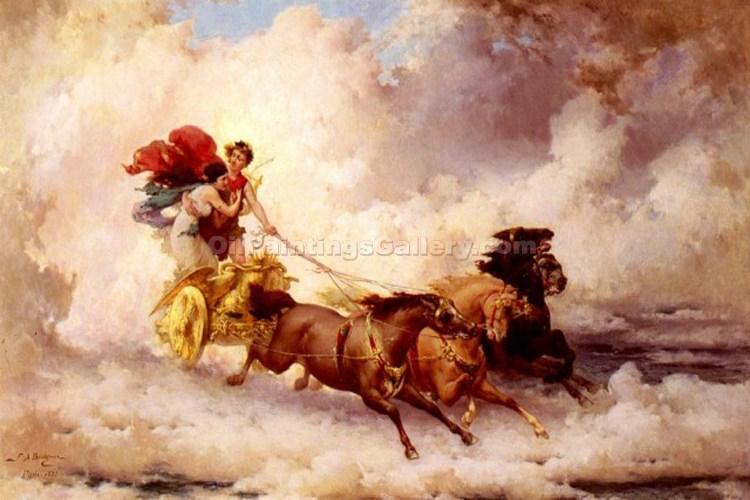 """Apollo Abducting Cyrene"" by  Frederick Arthur Bridgman"