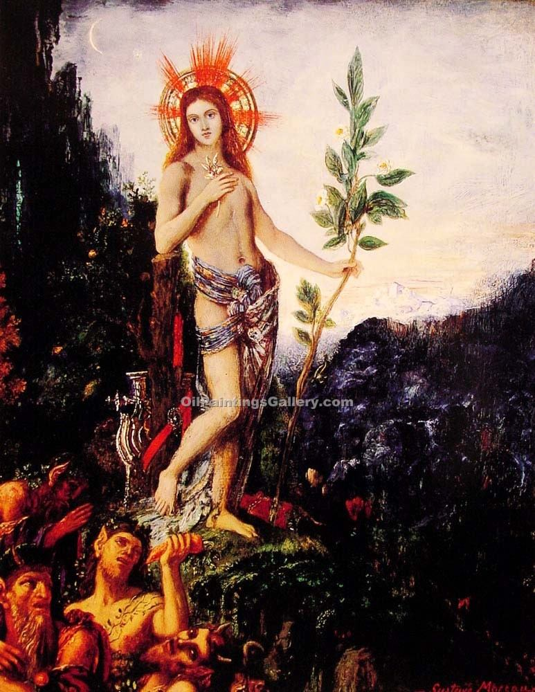 """Apollo and the Satyrs"" by  Gustave Moreau"