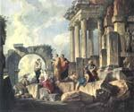Apostle Paul Preaching on the Ruins by  Giovanni Paolo Pannini (Painting ID: CM-0857-KA)