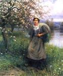 Apple Blossoms in Normandy by  Daniel Ridgway Knight (Painting ID: EI-0909-KA)