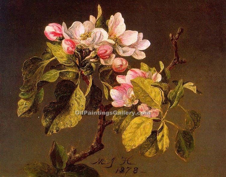 """Apple Blossoms"" by  Martin Johnson Heade"
