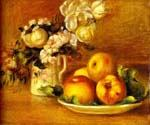 Apples and Flowers by  Pierre Auguste Renoir (Painting ID: SL-0211-KA)