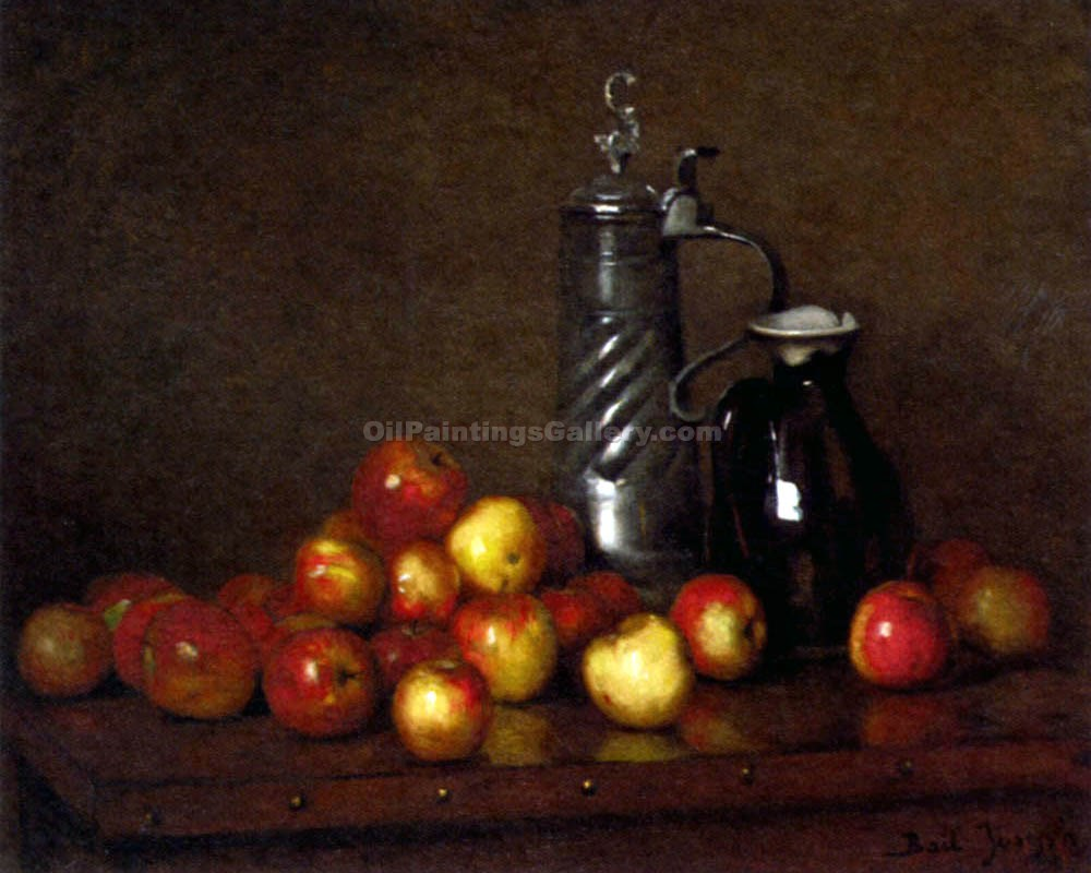 Apples with a Tankard and a Jug by Claude JosephBail | Acrylic Paintings - Oil Paintings Gallery
